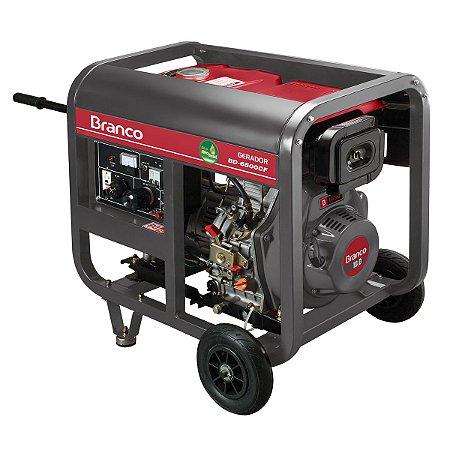 Grupo Gerador a Diesel 5,5KVA Part. Manual BD6500 Marca Branco