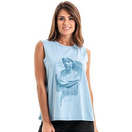 Regata Equivoco Grega Feminina - Azul Claro
