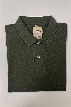 Camisa Polo com Elastano Verde Pinho
