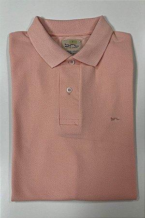Camisa Polo com Elastano Salmão