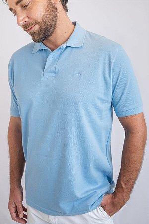 Camisa Polo Básica Azul Claro
