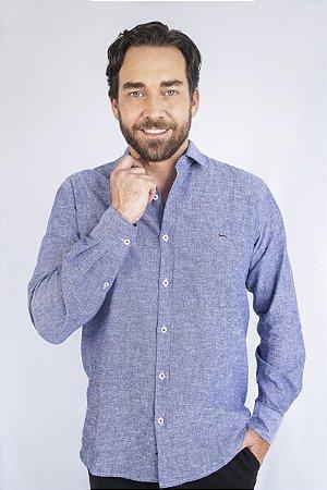 Camisa Linho Atrani Azul