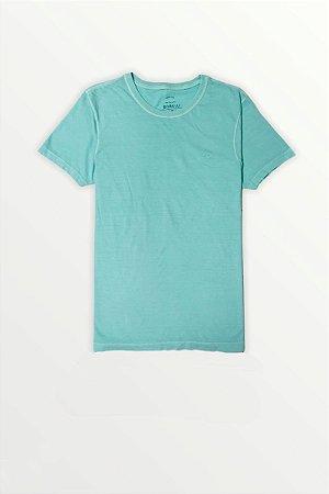 T-Shirt Estonada Lisa Verde Água