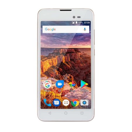 SMARTPHONE MS50L 3G QUAD CORE 8GB DUAL CHIP BRANCO/DOURADO