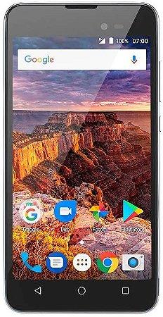 SMARTPHONE MS50L 3G QUAD CORE 8GB DUAL CHIP PRETO/GRAFITE