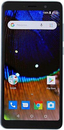 SMARTPHONE MS50X 4G QUAD CORE 16GB DUAL CHIP AZUL PRETO NB733