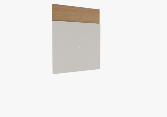 PAINEL ÉVORA FIT 1600MM OFF WHITE BRILHO / NATURAL - RUDNICK