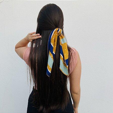 Lenço Amarelo e Azul