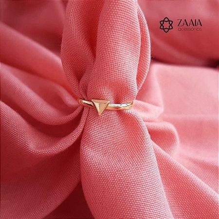 Anel de falange triangular dourado Aro 11