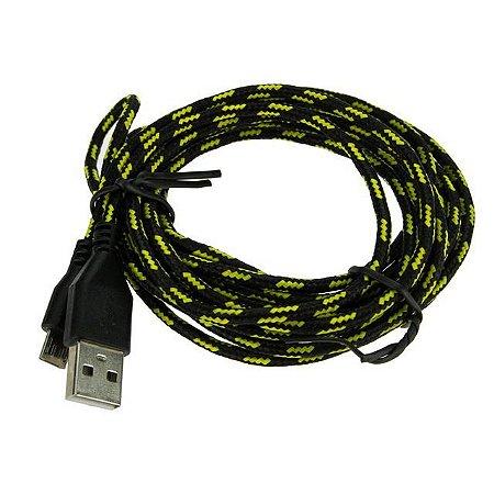CABO DE CELULAR USB V8 CORDA 3M