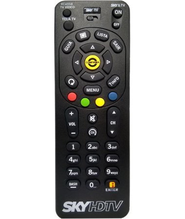 CONTROLE PARA TV ASSINATURA SKY HD PEQUENO PRETO