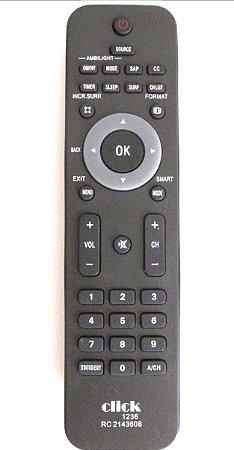CONTROLE PARA TV LCD PHILIPS PRETA