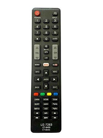 CONTROLE PARA TV LCD TOSHIBA NOVA SMART