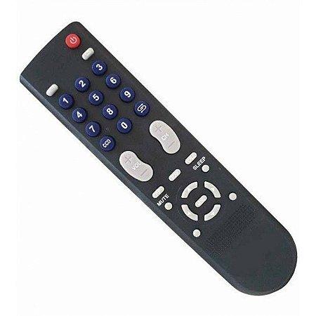 CONTROLE PARA TV PHILCO AZUL TELA PLANA