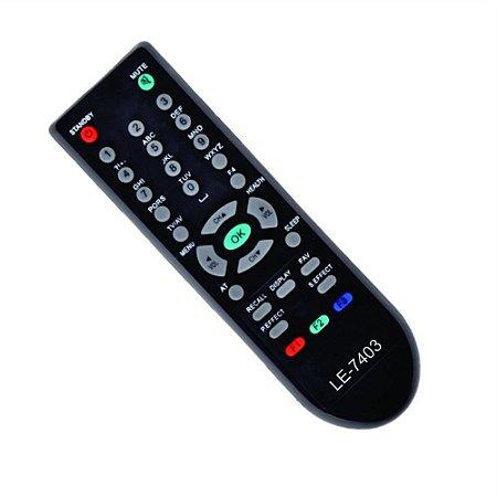 CONTROLE PARA TV TELA PLANA PHILCO PRETO