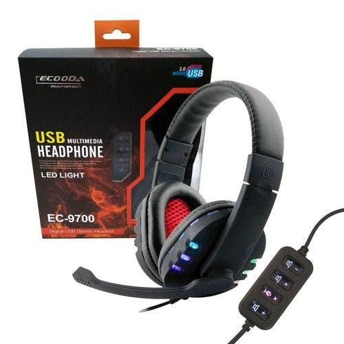 FONE HEADSET GAMER USB PS3 E PC