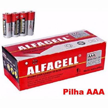 PILHA ALFACELL PALITO AAA CX COM 60 UN