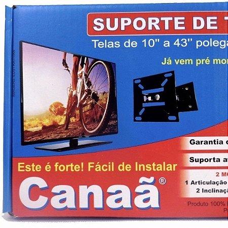 SUPORTE DE TV ARTICULADO 2 MOVIMENTOS DE 10 A 43 POLEGADAS