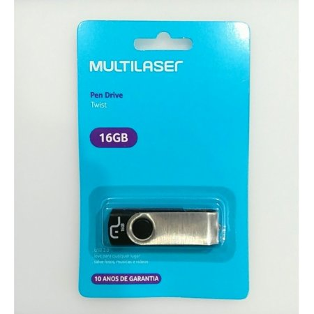 PEN DRIVE MULTILASER 16GB METAL