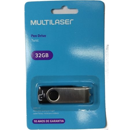 PENDRIVE MULTILASER 32GB METAL