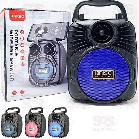 CAIXA DE SOM KIMISO MEDIA 5W FM/SD/USB E BLUETOOTH KMS-1183