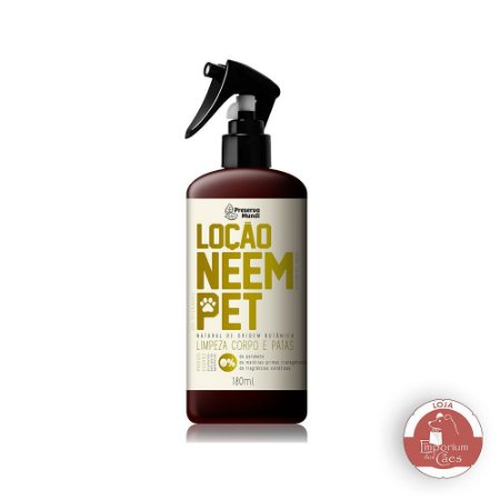 Loção Neem Pet - Limpeza de Patas e Corpo do Cachorro
