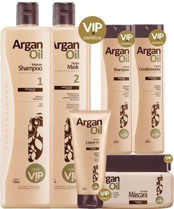 Escova Progressiva Vip Arganoil + Kit de Manutenção pós Progressiva Argan Oil