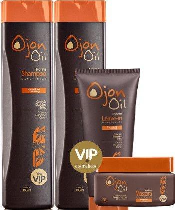 Kit Pós Quimica Vip Hydrate Ojon Oil 4 Produtos