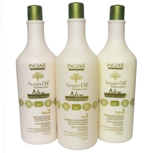 Inoar Argan Oil System Escova Progressiva Sem Formol - Kit 3x1000ml - [KIT ARGAN OIL SYSTEM]