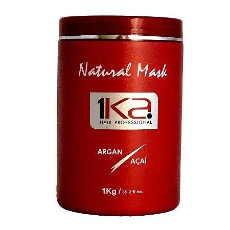 1ka Natural Mask Argan E Açaí Máscara De Restauração 1Ka de 1kg