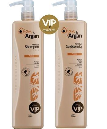 Kit Lavatório Vip Ojon e Argan Nutritive New Vip ( Shampoo e Condicionador Litro )