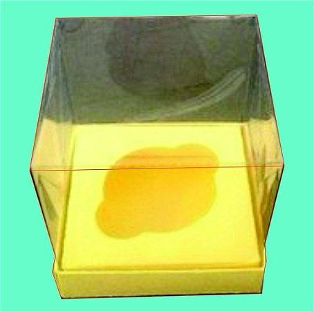 Caixa de Cupcake com a Base de Papel,  berço e Tampa de Acetato 8 x 8 x 8 com 100 unidades