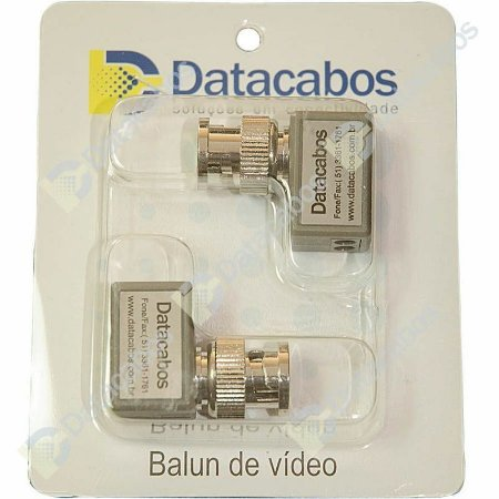 Kit Balun Passivo de Vídeo 90° / NTSC / PAL e vídeo HD 720p (PAR)