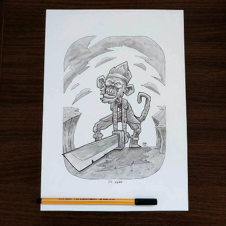 Originais Inktober 2018 - Desenhos de 15 a 21