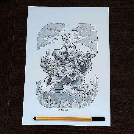 Originais Inktober 2018 - Desenhos de 22 a 27