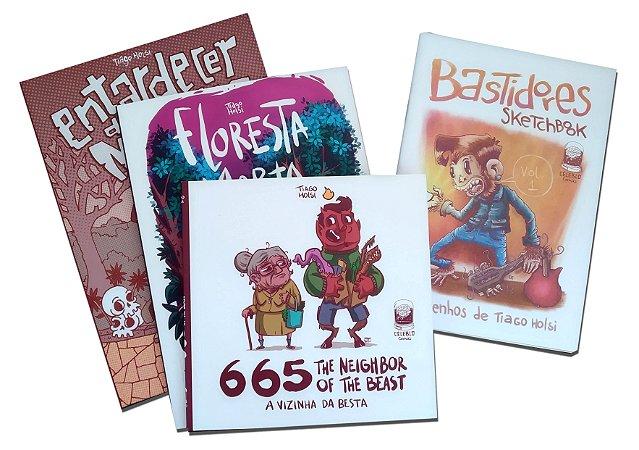 MEGA-COMBO |Floresta Morta + 665 + Entardecer dos Mortos + BRINDE (Sketchbook impresso Bastidores)