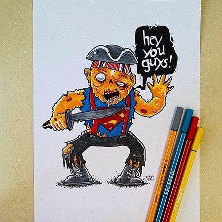 Arte Original - Sloth Zumbi