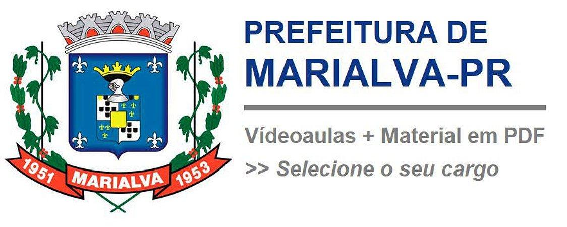 Videoaulas PREF MARIALVA-PR - Todos os níveis, cursos de R$ 149,90 por R$ 125,00 (escolha o seu cargo)