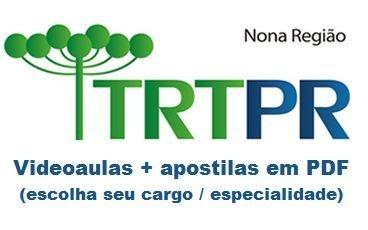 Videoaulas TRT-PR 2015: Técnicos e Analistas (Salários até R$ 10,4 mil) - Escolha seu cargo e área
