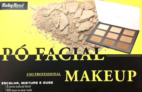 Paleta para contorno ou pó facial Ruby Rose HB7208 - PROMOÇÃO