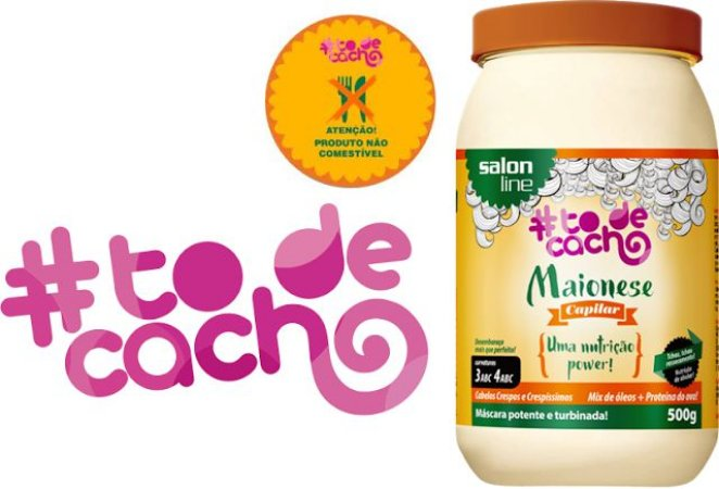 PROMOÇÃO - Salon Line Maionese Capilar #TodeCacho Uma Nutrição Power 500g
