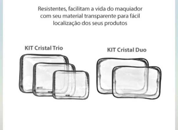 NECESSARIE KIT CRISTAL TRIO C/3 - KLASS VOUGH