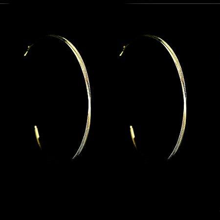 Brinco de duas Argola fina DUDA FERNANDES Folheado a Ouro 18K DD32