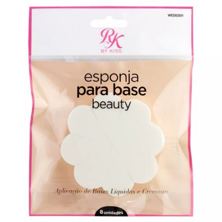 ESPONJA PARA BASE BEAUTY  Rk Kiss New York - 8 pedaços
