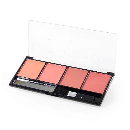 Paleta Super Combo Blush 04 cores - Luisance L295