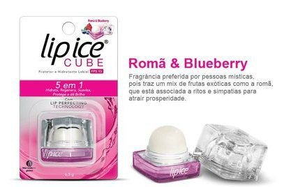 Protetor Labial Lip Ice Cube Fps 15 Romã & Blueberry