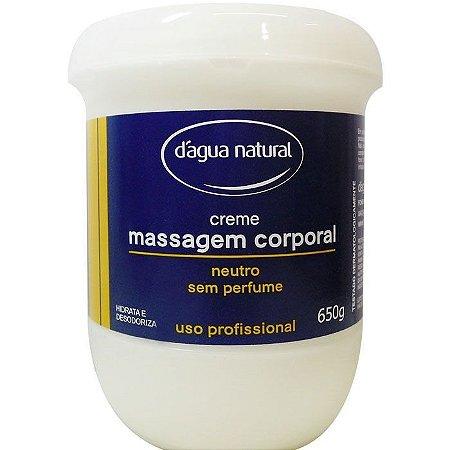 DAGUA NATURAL Creme Massagem Corporal Neutro sem Perfume 650g