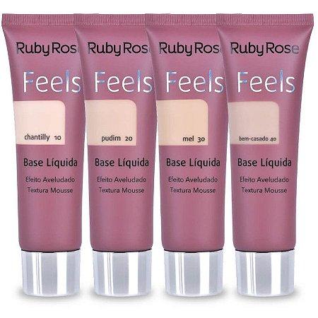 Base Liquida Feels Grupo 1 - Ruby Rose- HB8053- PROMOÇÃO