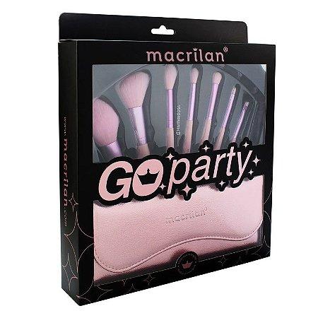 Kit com 7 Pincéis Go Party Macrilan ED007 - PROMOÇÃO