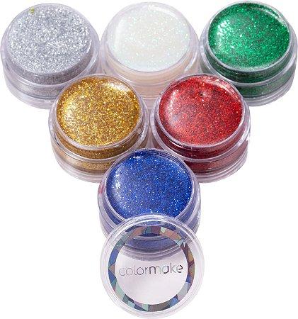 Cartela Glitter com 06 unidades ref. 2000 - Colormake-PROMOÇÃO